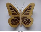 Papillon (PPE_AAxx) - Une face marquetée (2 couleurs) - décoration à suspendre
