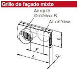 Grille de façade mixte - IP-FKB 125 - Isopipe Helios