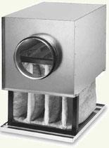 Caisson filtre diametre 100mm Helios LFBR F7 pour conduit circulaire