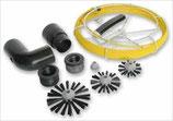 Kit de nettoyage pour réseau aéraulique Helios KWL-RS pour gaines Flexpipe et Renopipe