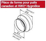 Pièce de forme pour puits canadien LEWT - IP-ARZ 200/160 - Isopipe Helios