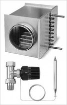 WHR 100 : batterie de chauffe à eau chaude Helios WHR Ø 100 mm + kit de régulation WHST 300 T50
