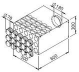 Collecteur intermédiaire avec raccords - FRS-VK 15-75/180 - Flexpipe Helios