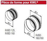 Pièce de forme avec joint pour KWL diamètre 160 mm - RVBD 180/160 - Isopipe Helios