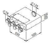 Collecteur intermédiaire extra plat - FRS-FVK 6-75/125 - Flexpipe Helios