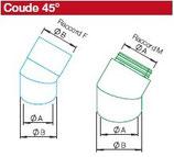 Coude 45° + raccord M - IP-B 180/45 - Isopipe Helios