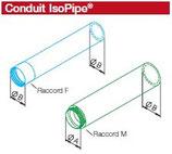 Conduit droit + raccord M - IP 180/2000 - Isopipe Helios