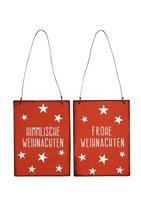 Schild zum Hängen rot/weiß 2 Varianten