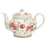 Teapot round Meadow white