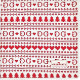 Napkin with lace /Teatowel December red