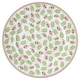 Plate Lily petit white