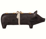 Wooden pig large black 2018