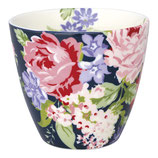 Latte Cup Rose dark blue