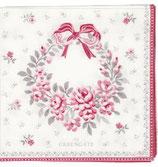 Paper Napkin Flora white small