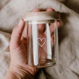 Mini Vorratsglas Herz(Vorbestellung)
