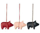 Wooden Pig Ornament 2020