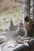 Engel Clara groß Spitzenkleid taupe kleine Blütenranken