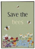Metallschild Save the Bees