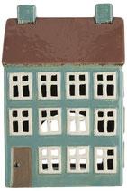 Haus Teelicht Nyhavn braunes Dach/2 xSchornsteine (Vorbestellung August 2021)