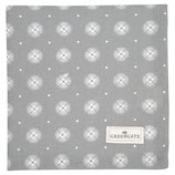 Napkin with lace Saga warm grey