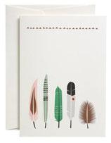 Grußkarte Five Feathers
