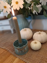 Green Drum  Candleholder small