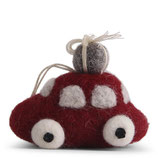 Small Red Car with Presents