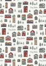 Geschenkpapier Christmas Village