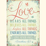 Love, bears all things