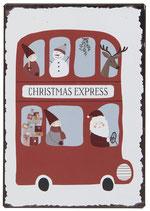 Metallschild Christmas Express