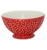 French Bowl Dots red xl large