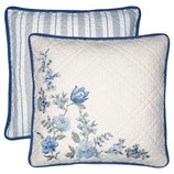 Cushion Donna blue with embroidery