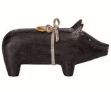 Wooden pig medium black 2018