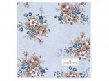 Napkin with lace Marie dusty blue