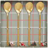 Spoon Set of 4 xmas Mix