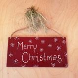 Holzschild Merry Christmas