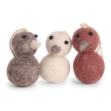 Round mini Chickens red 3er Set