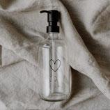 Spenderflasche Herz transparent