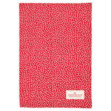Teatowel Dot red