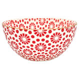 Bowl Kelly red w.gold