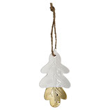 Ornament Ceramic Leaf Oak