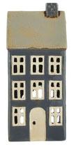 Haus Teelicht Nyhavn graublau beiges Dach/Schornstein(Vorbestellung August 2021)