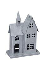 Haus mit Türmchen grau