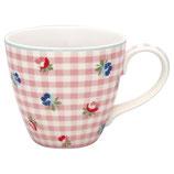 Mug Viola Check pale pink