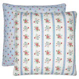 Quilted Cushion Evie white