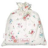 Belle white Laundry bag small