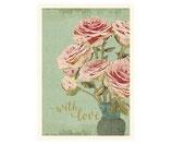 Kleine Anhängerkarte with love