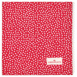 Napkin with lace dot red