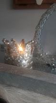 Krone aus Glas, silbern