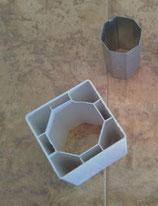 Achtkantwelle zur Pfostenverstärkung